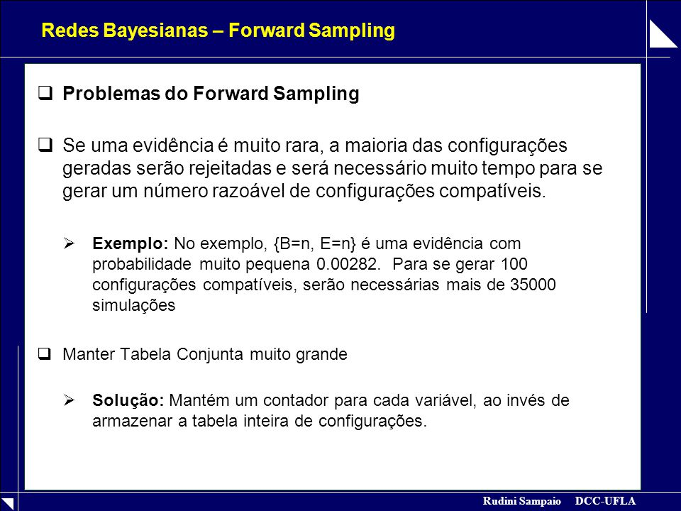 Redes Bayesianas – Forward Sampling