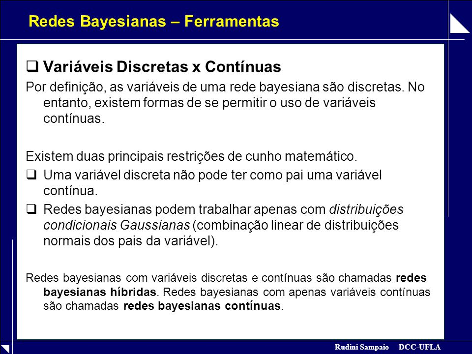 Redes Bayesianas – Ferramentas