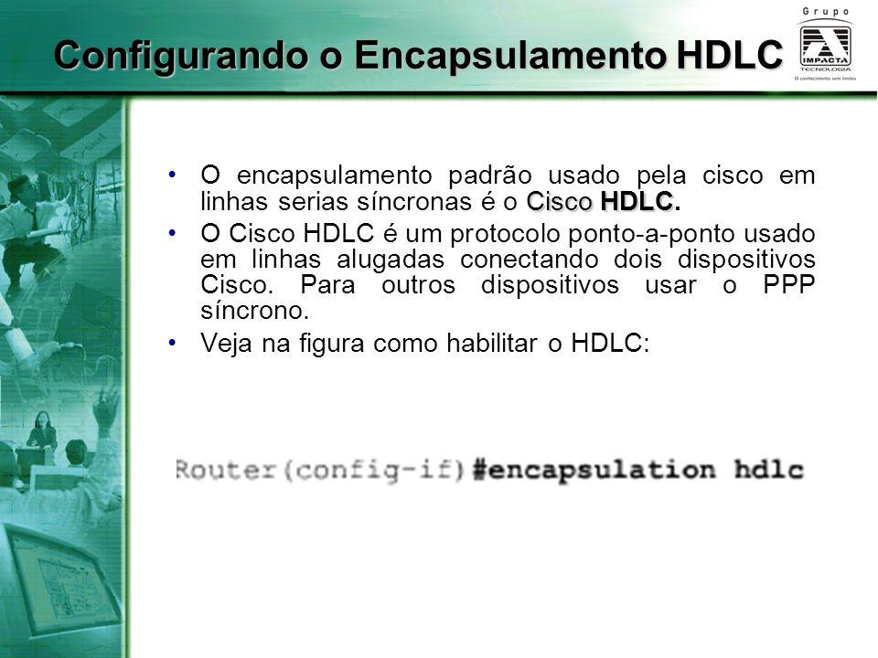Configurando o Encapsulamento HDLC
