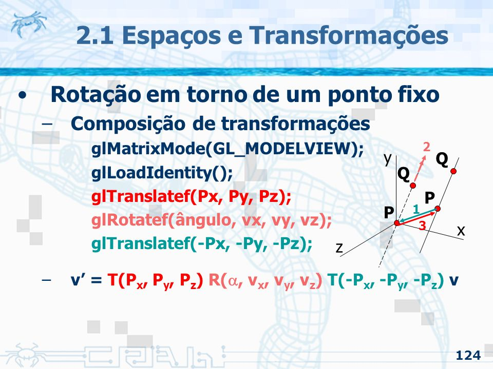 2.1 Espaços e Transformações