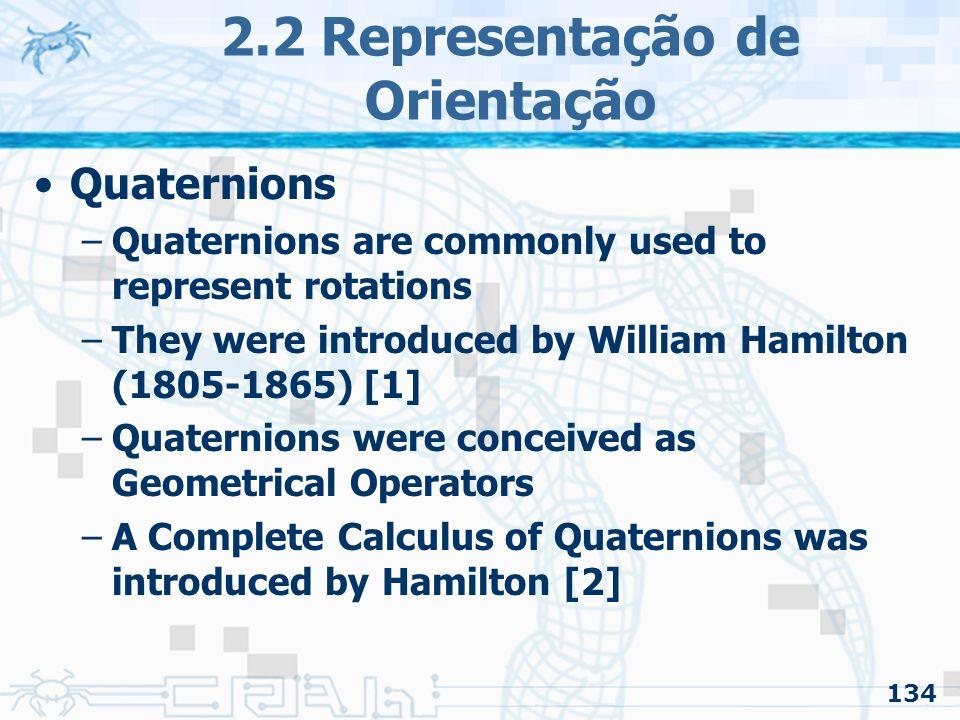2.2 Representação de Orientação