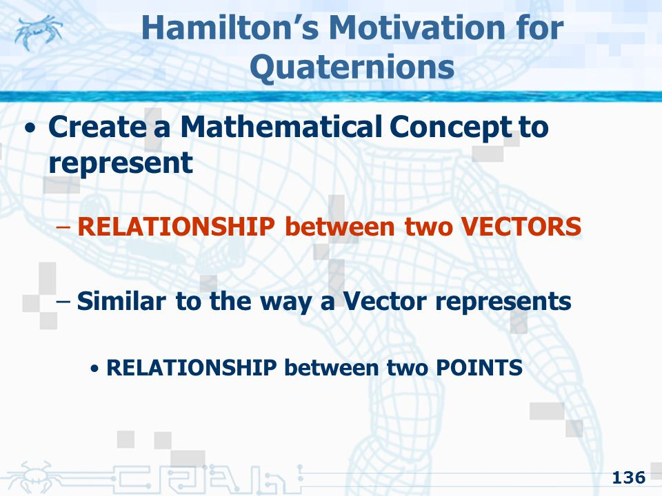 Hamilton's Motivation for Quaternions