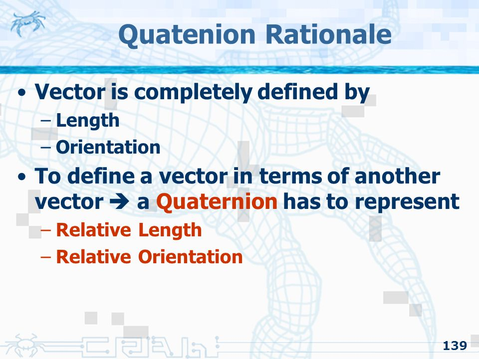 Quatenion Rationale Vector is completely defined by