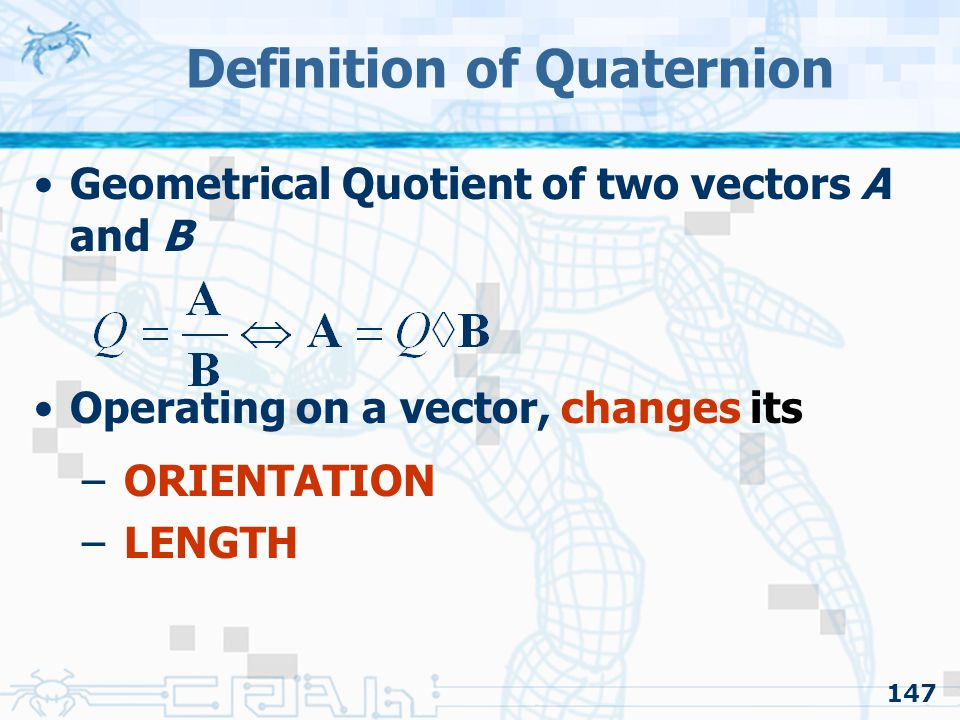 Definition of Quaternion