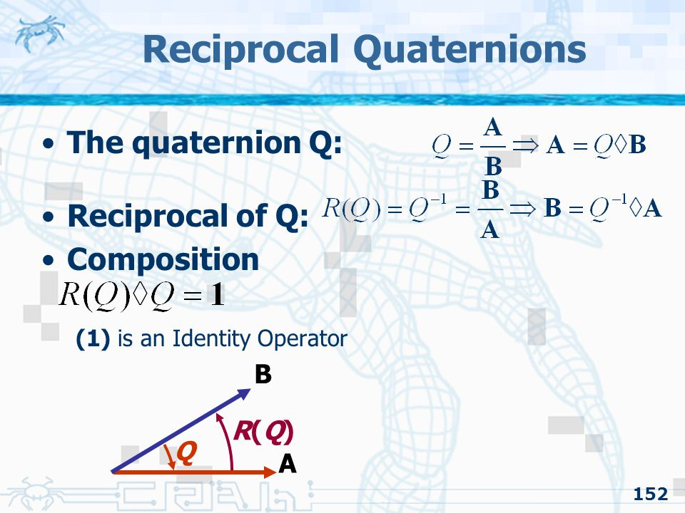 Reciprocal Quaternions