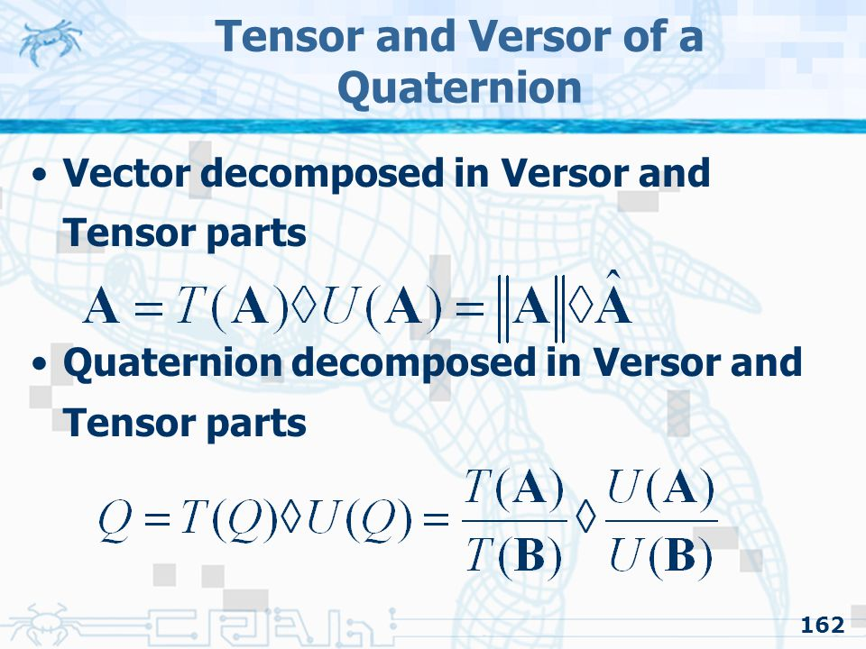 Tensor and Versor of a Quaternion