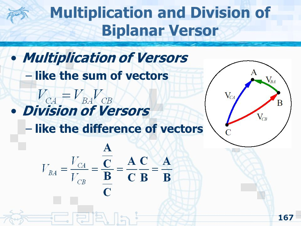 Multiplication and Division of Biplanar Versor