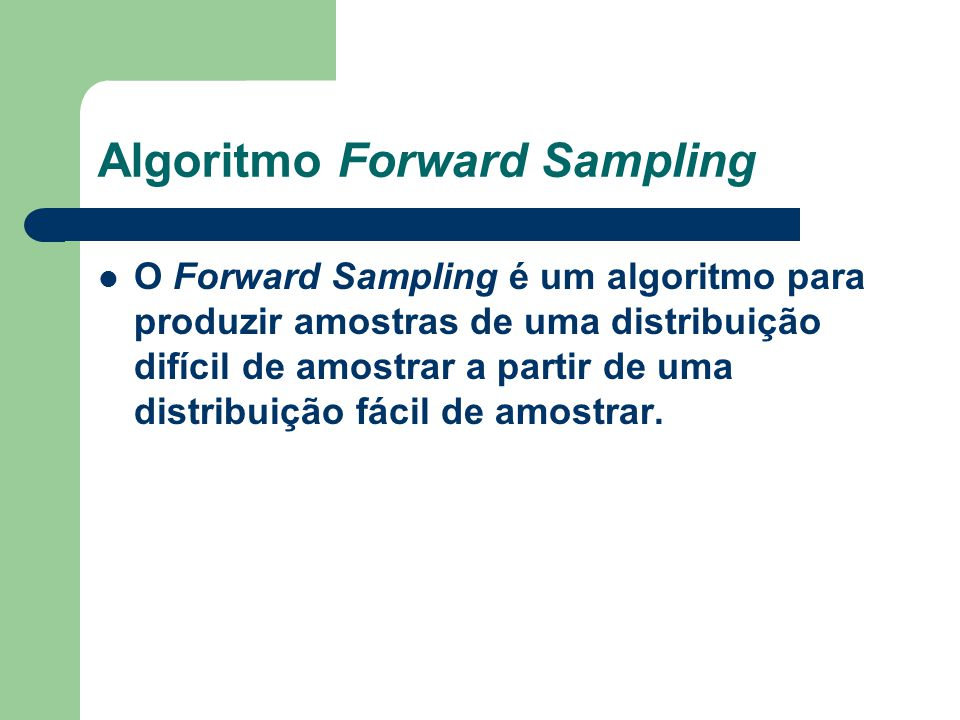 Algoritmo Forward Sampling