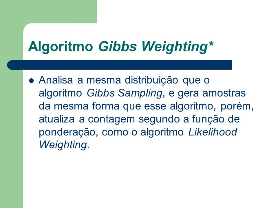 Algoritmo Gibbs Weighting*