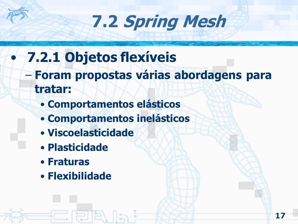7.2 Spring Mesh 7.2.1 Objetos flexíveis