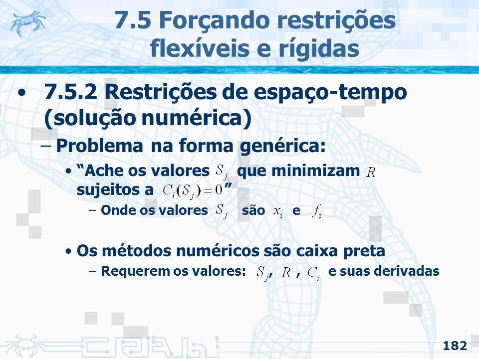 7.5 Forçando restrições flexíveis e rígidas