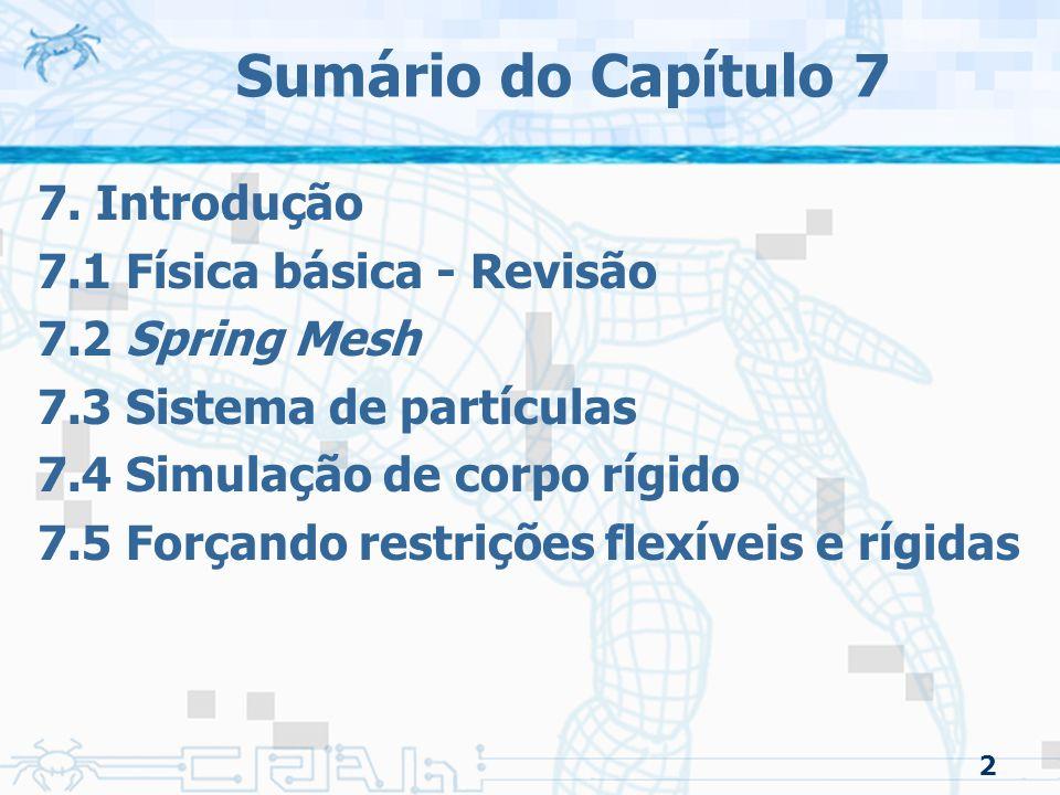 Sumário do Capítulo 7 7. Introdução 7.1 Física básica - Revisão