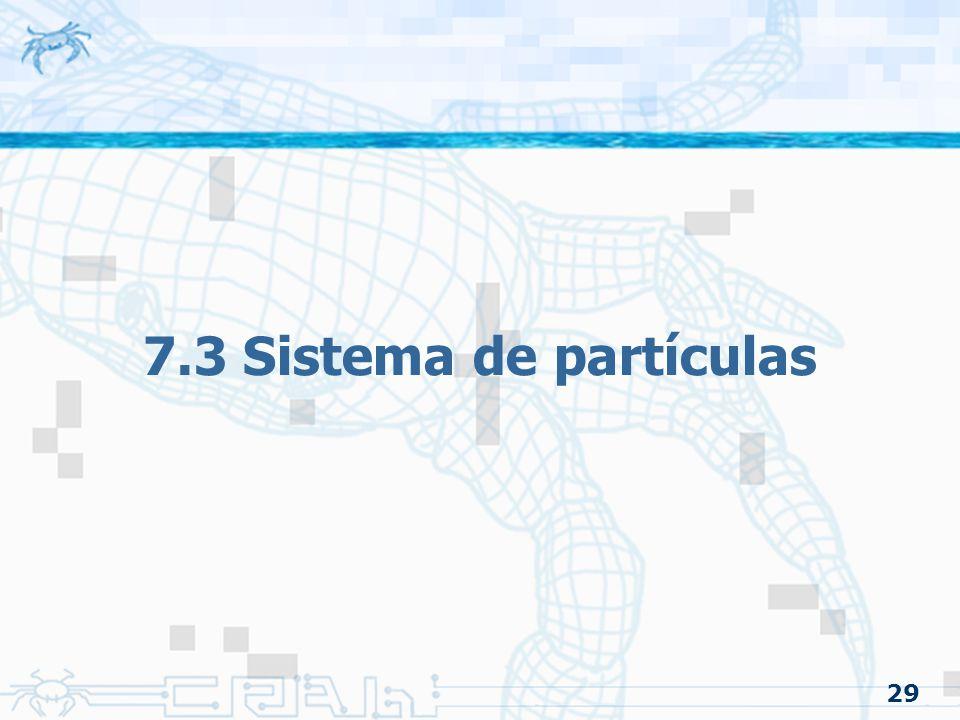 7.3 Sistema de partículas 29