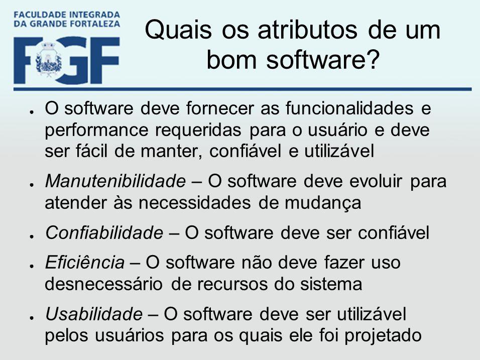Quais os atributos de um bom software