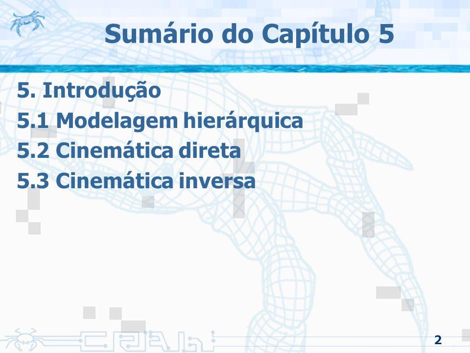 Sumário do Capítulo 5 5. Introdução 5.1 Modelagem hierárquica