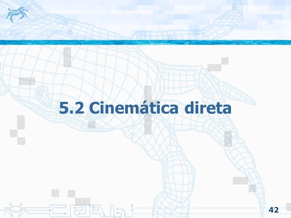 5.2 Cinemática direta 42