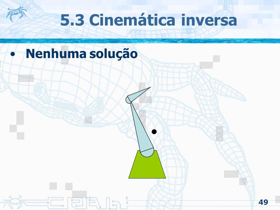 5.3 Cinemática inversa Nenhuma solução 49