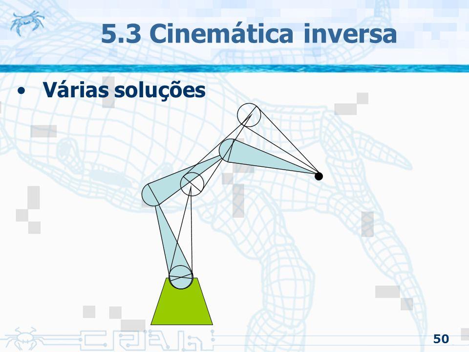 5.3 Cinemática inversa Várias soluções 50