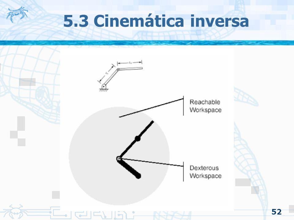 5.3 Cinemática inversa 52