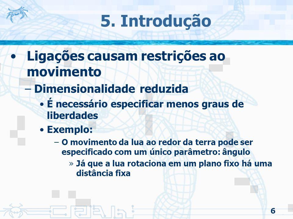 5. Introdução Ligações causam restrições ao movimento