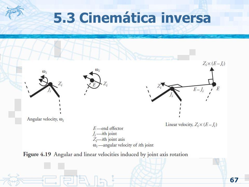 5.3 Cinemática inversa 67
