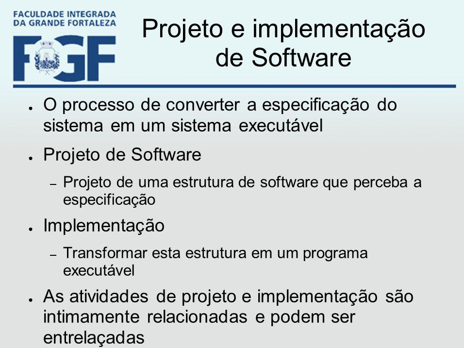 Projeto e implementação de Software