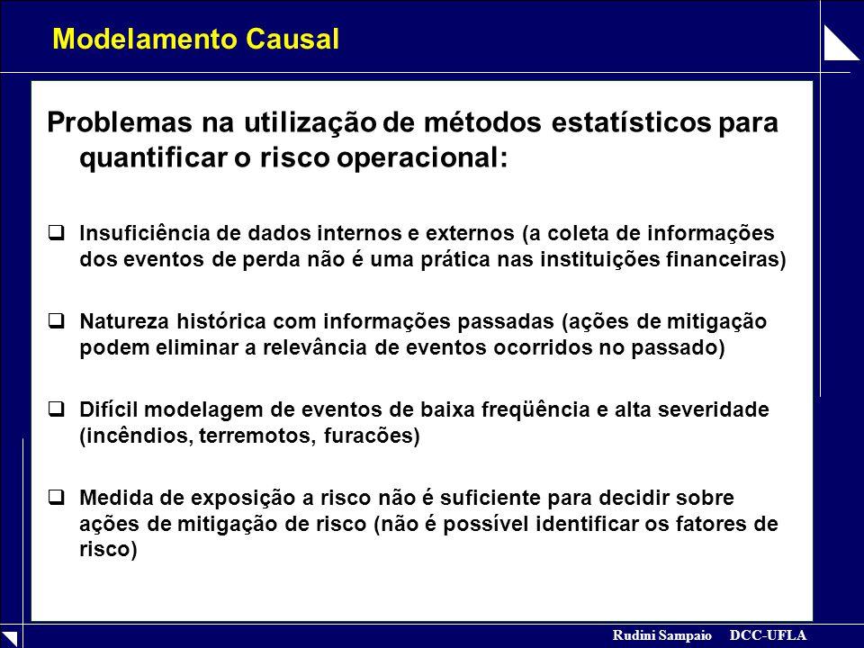 Modelamento Causal Problemas na utilização de métodos estatísticos para quantificar o risco operacional:
