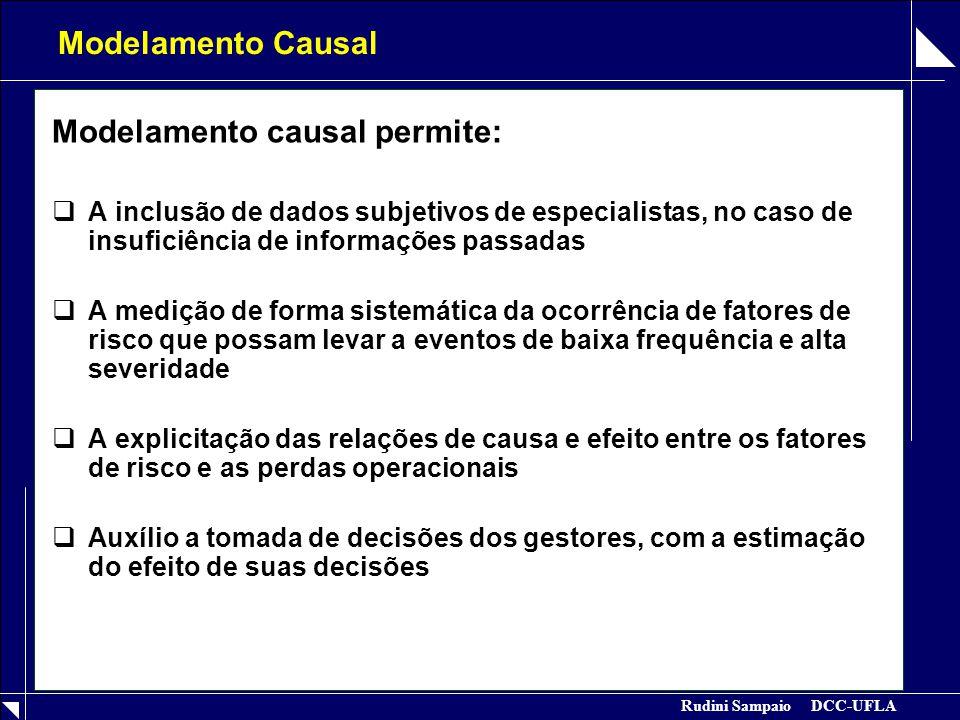 Modelamento causal permite: