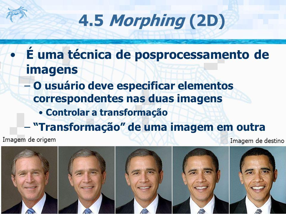 4.5 Morphing (2D) É uma técnica de posprocessamento de imagens