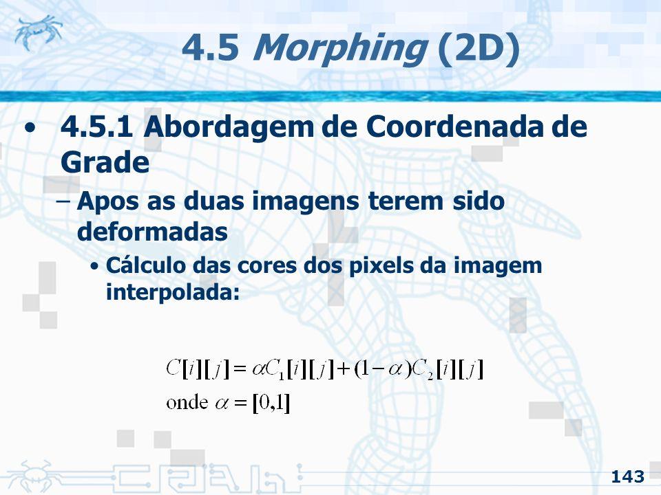4.5 Morphing (2D) 4.5.1 Abordagem de Coordenada de Grade