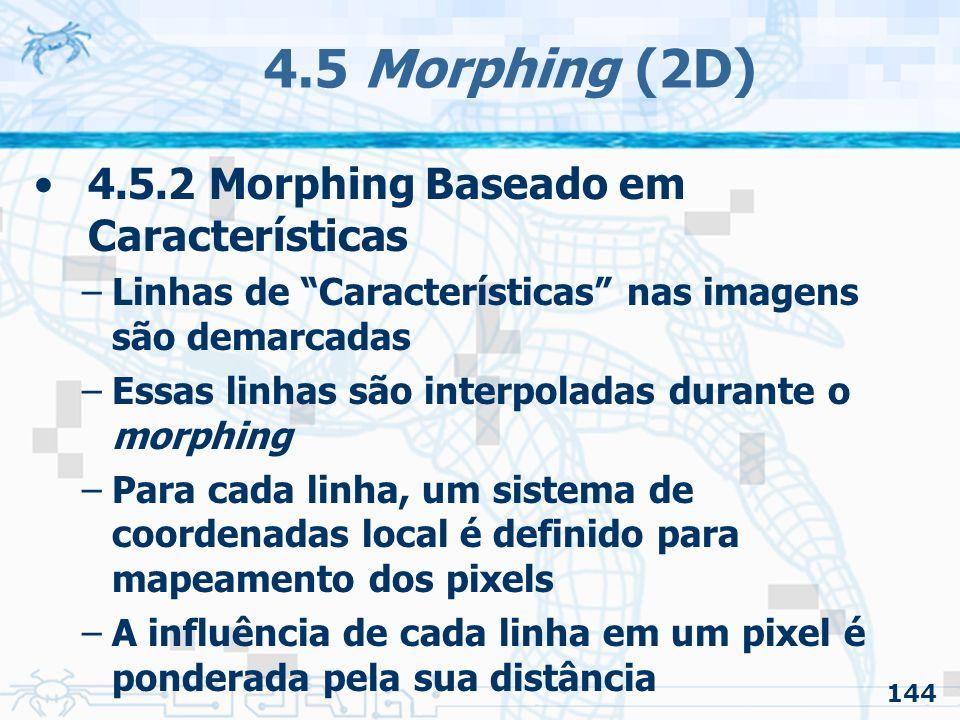 4.5 Morphing (2D) 4.5.2 Morphing Baseado em Características