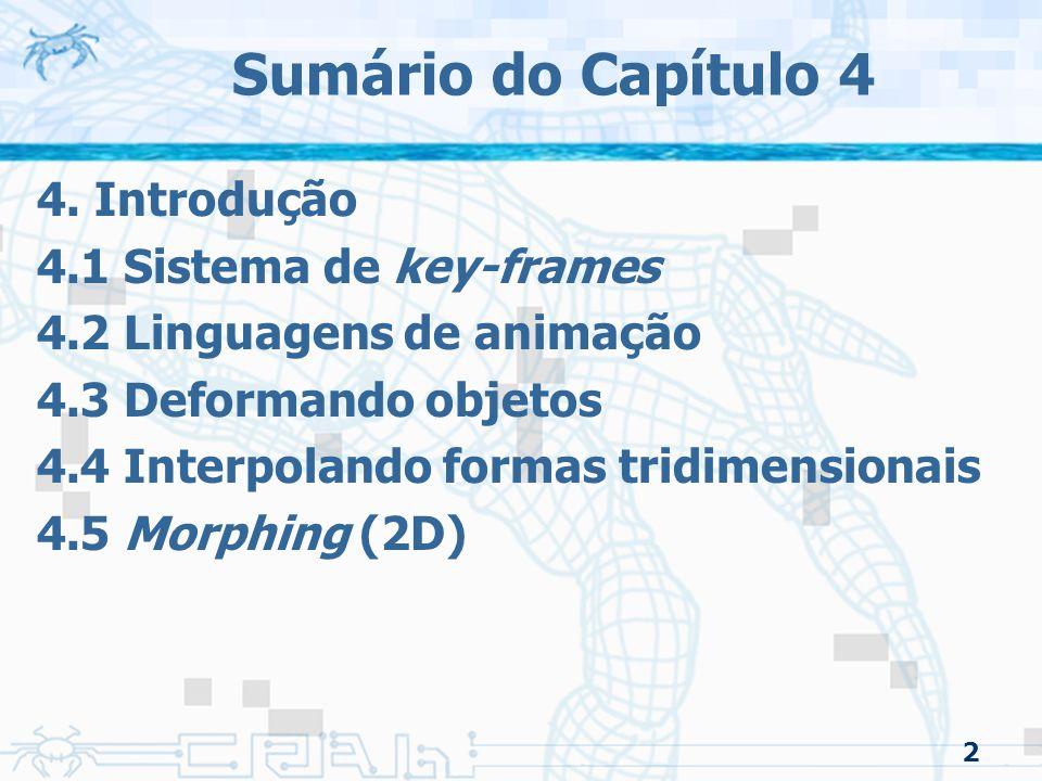 Sumário do Capítulo 4 4. Introdução 4.1 Sistema de key-frames