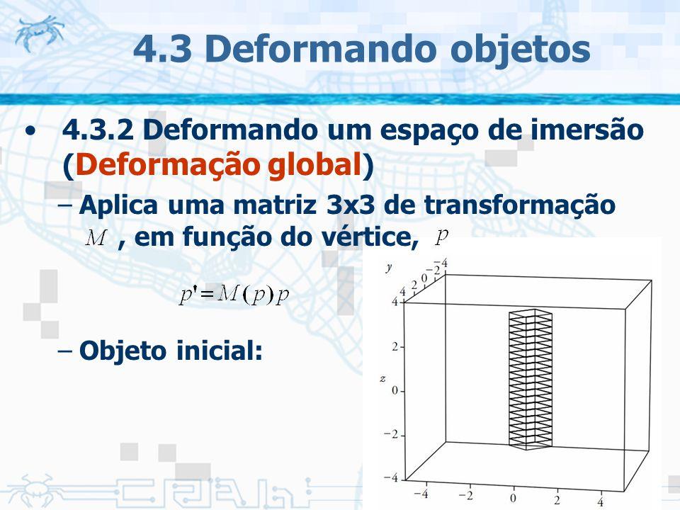 4.3 Deformando objetos 4.3.2 Deformando um espaço de imersão (Deformação global)