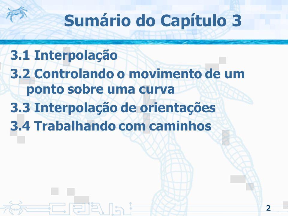 Sumário do Capítulo 3 3.1 Interpolação