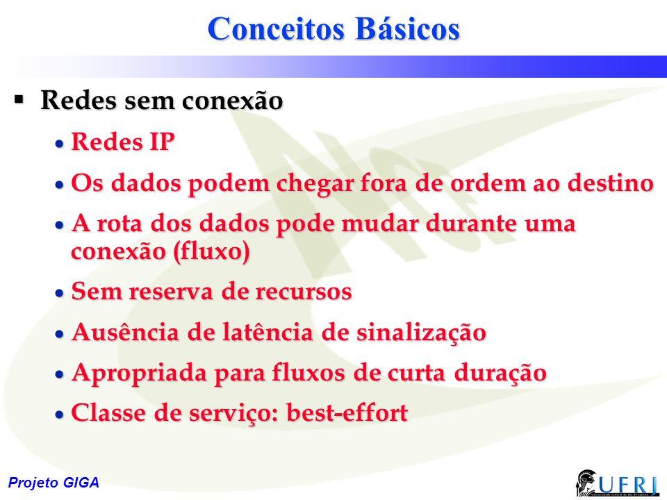 Conceitos Básicos Redes sem conexão Redes IP