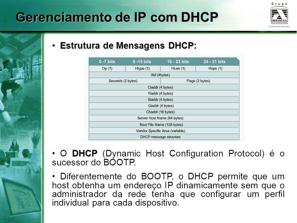 Gerenciamento de IP com DHCP