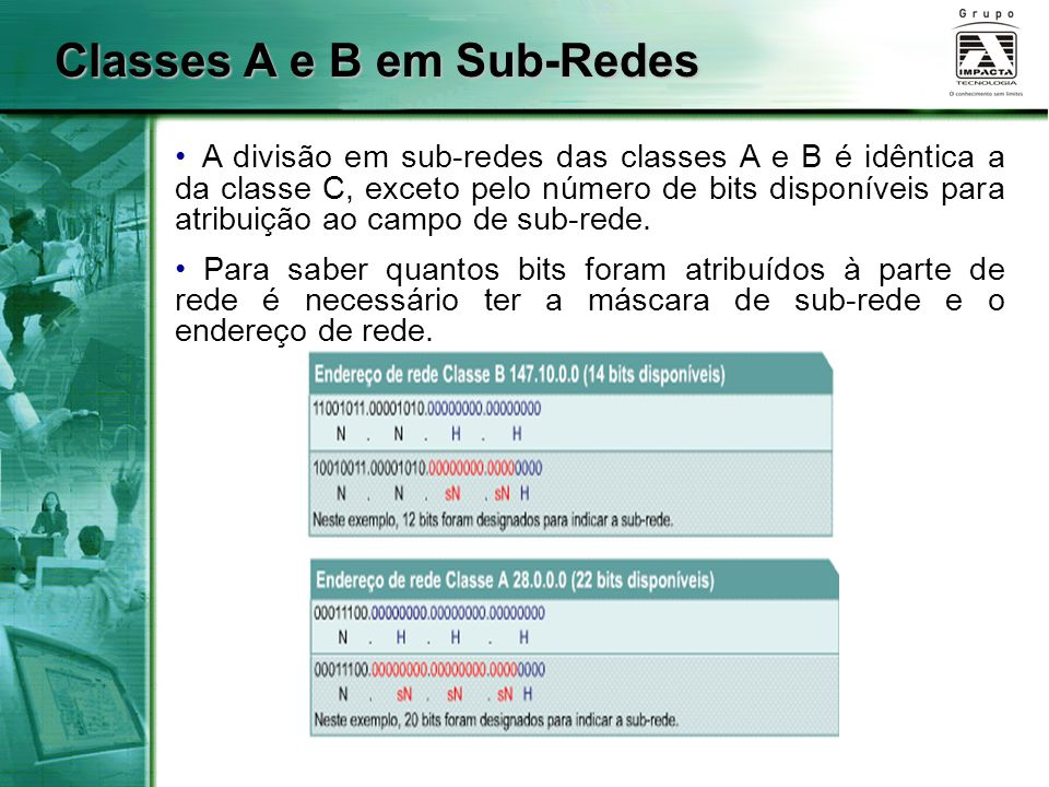 Classes A e B em Sub-Redes