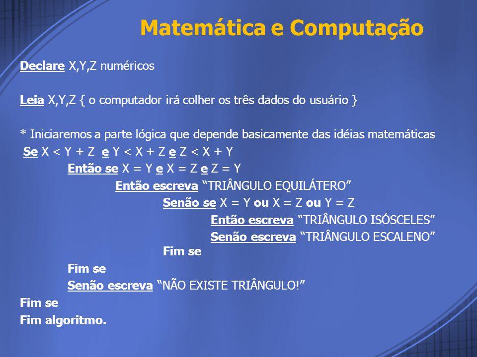 Matemática e Computação