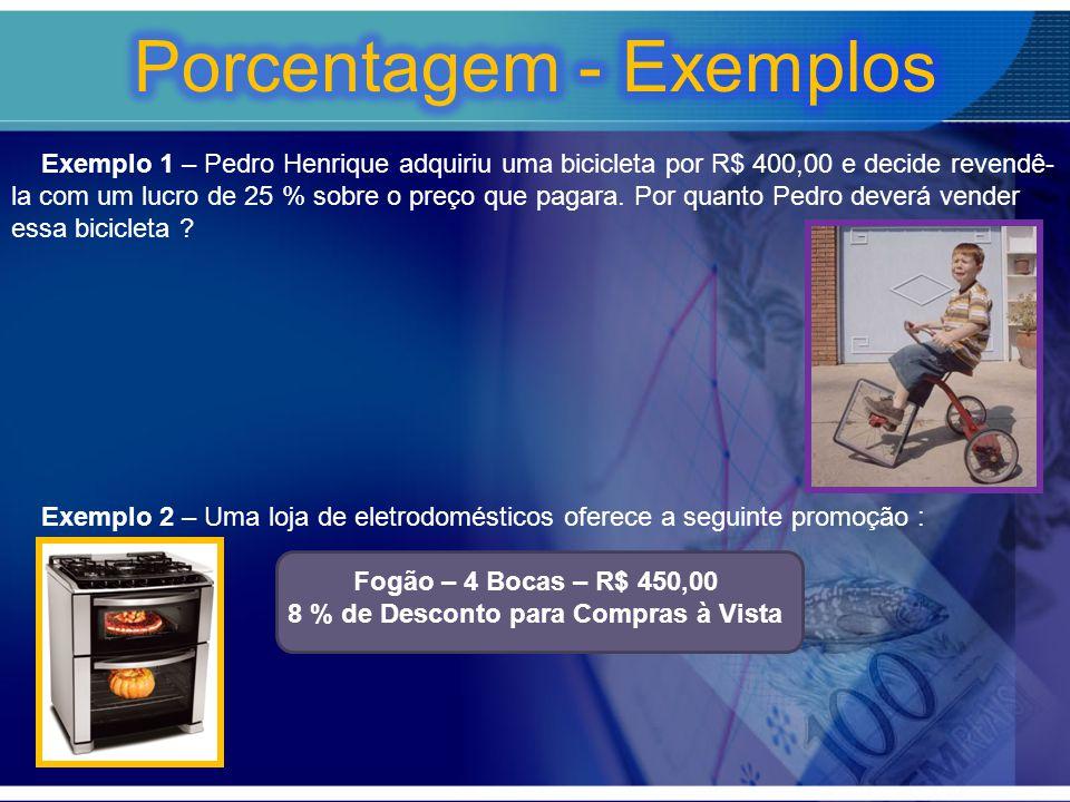 Porcentagem - Exemplos