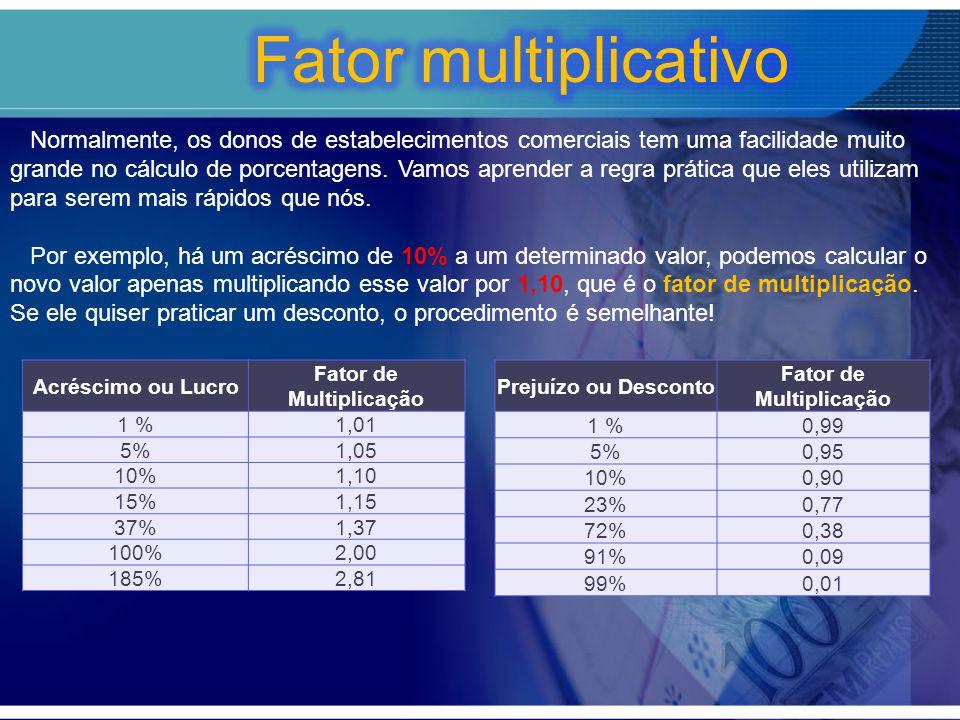 Fator de Multiplicação Fator de Multiplicação