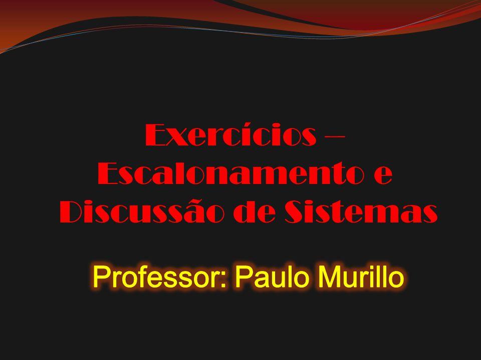 Professor: Paulo Murillo
