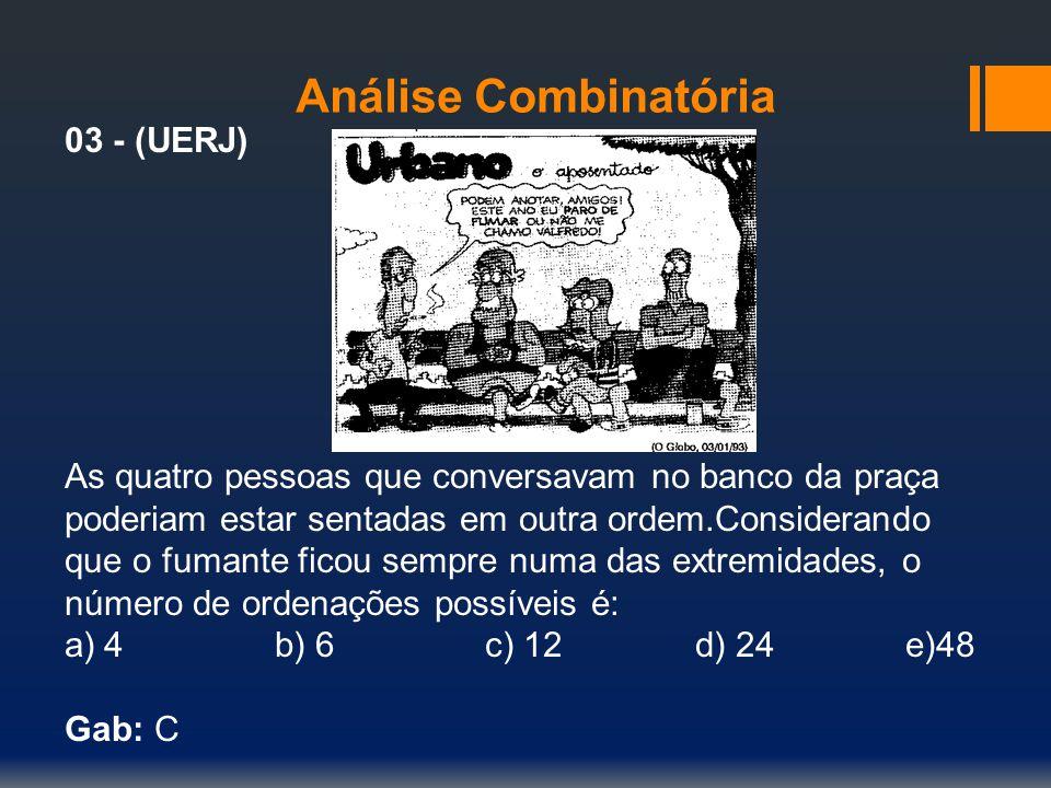 Análise Combinatória 03 - (UERJ)