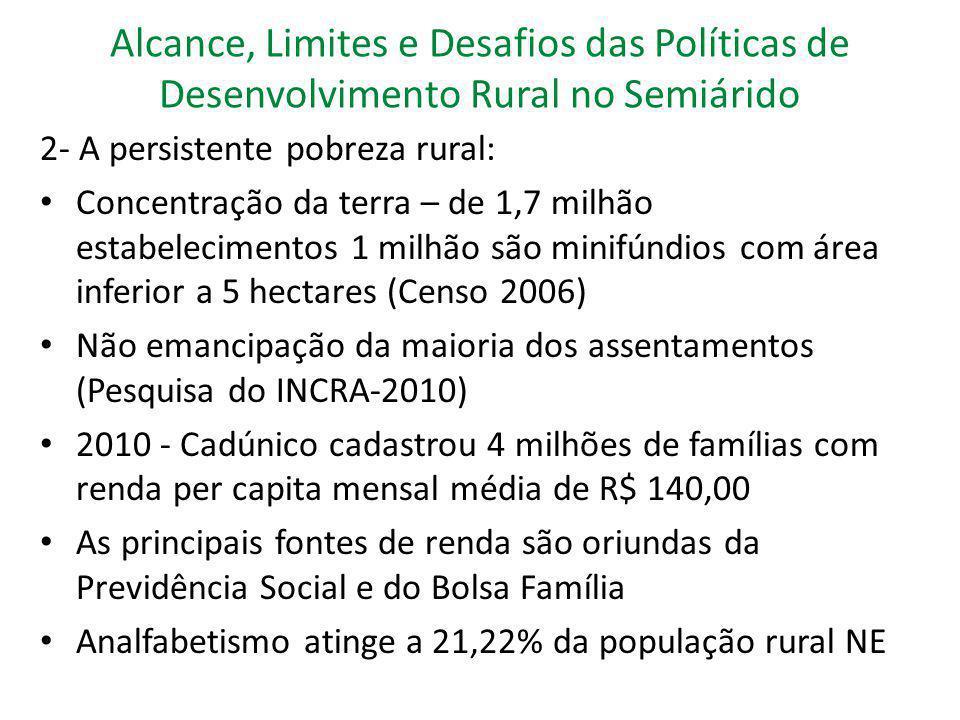 Alcance, Limites e Desafios das Políticas de Desenvolvimento Rural no Semiárido