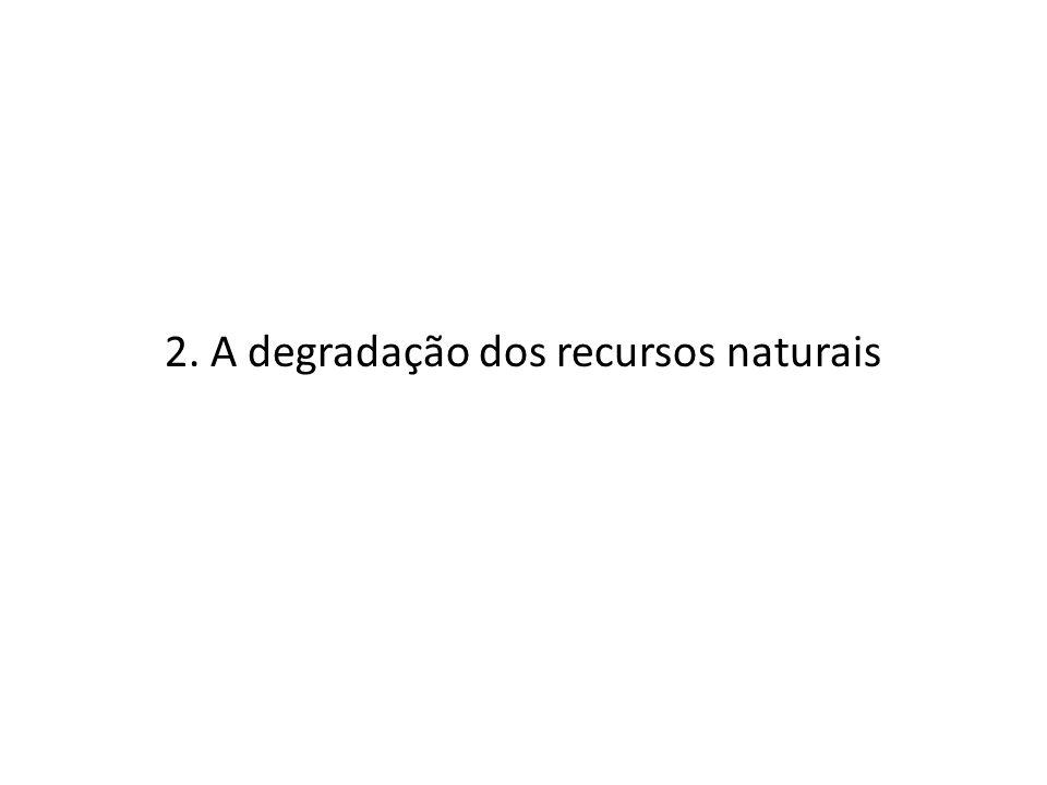 2. A degradação dos recursos naturais