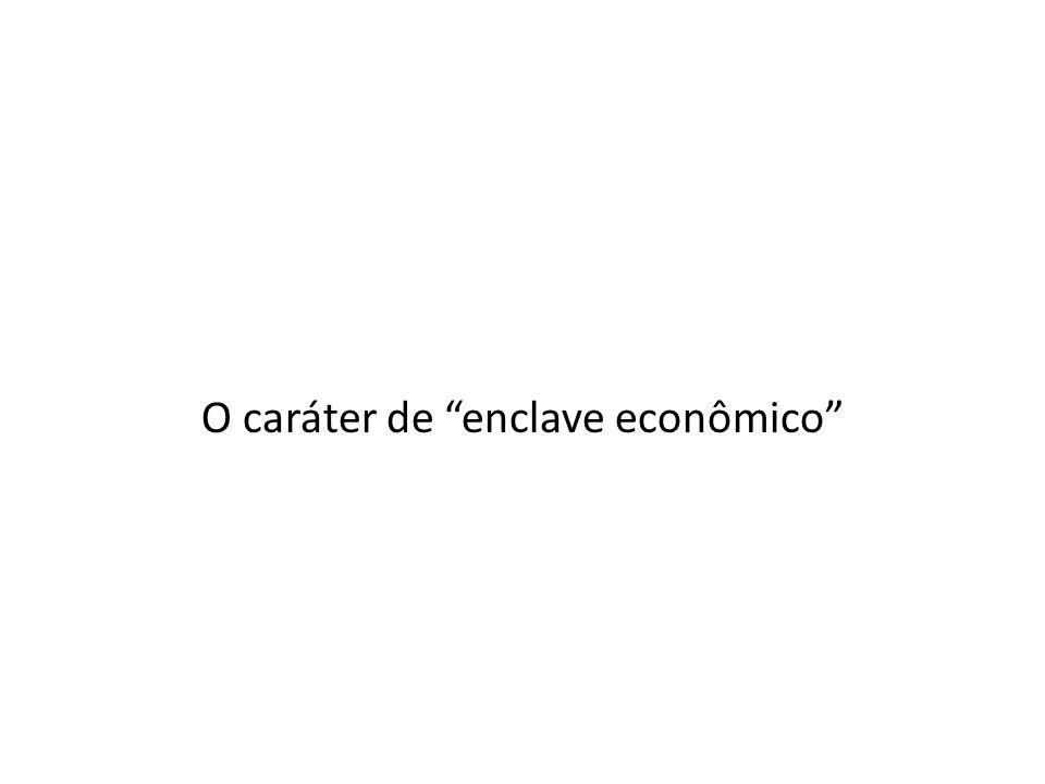 O caráter de enclave econômico