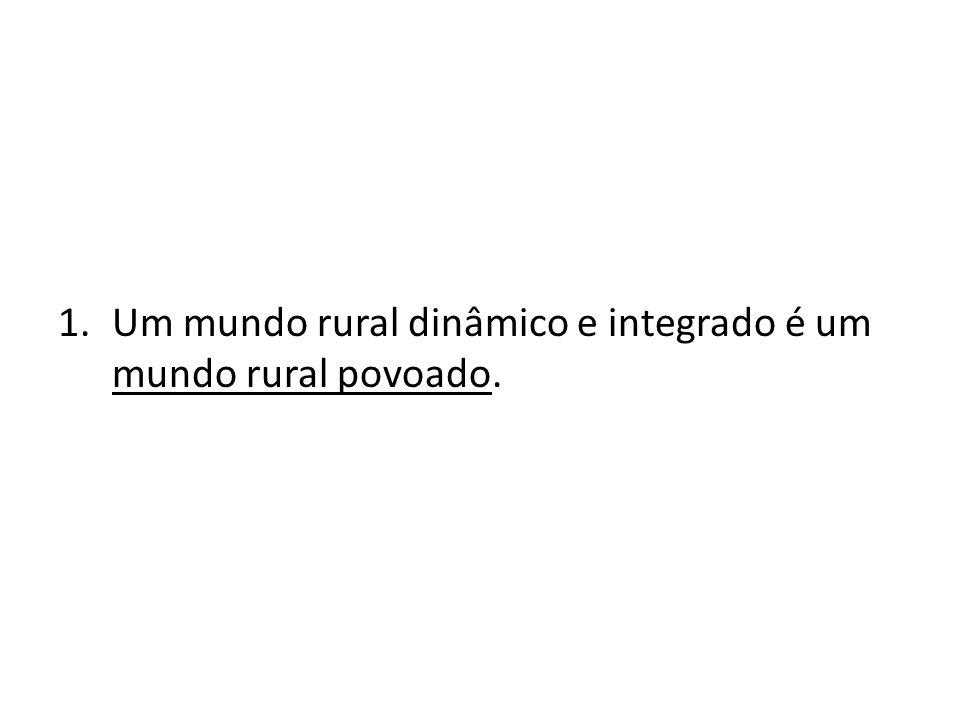 Um mundo rural dinâmico e integrado é um mundo rural povoado.