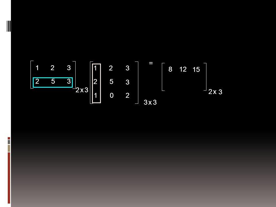 = 1 2 3 1 2 3 8 12 15 2 5 3 2 5 3 2 x 3 2 x 3 1 2 3 x 3