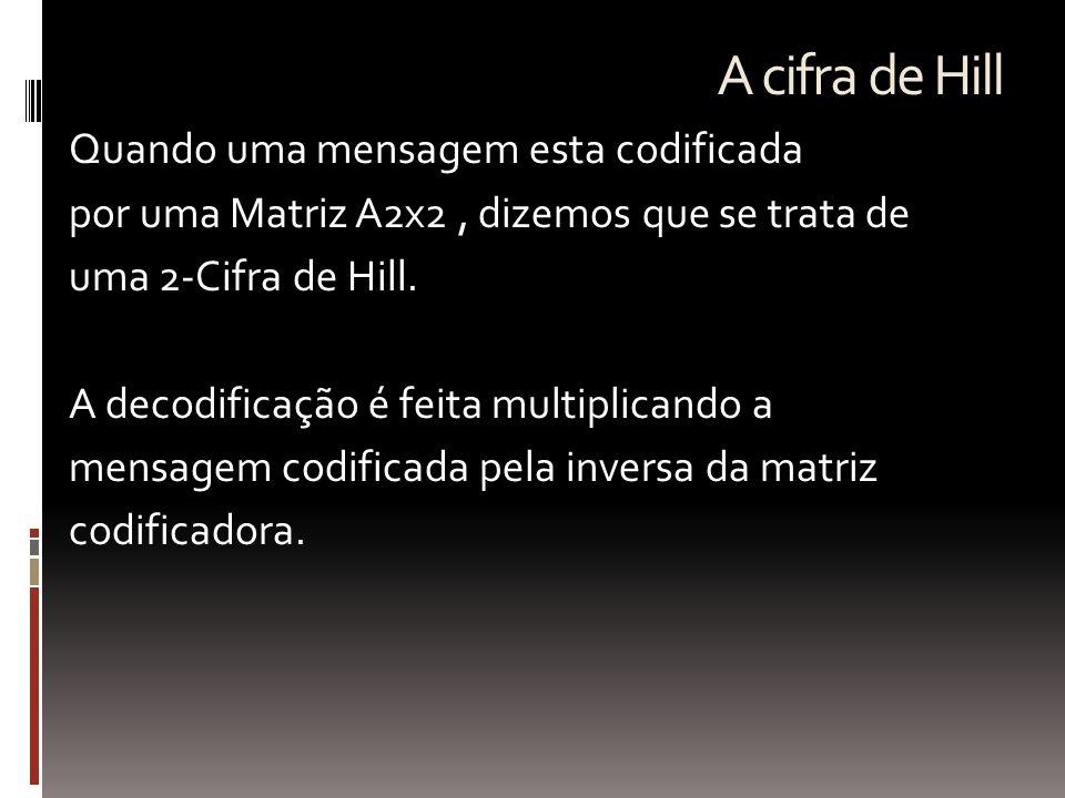 A cifra de Hill