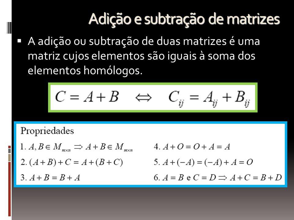 Adição e subtração de matrizes