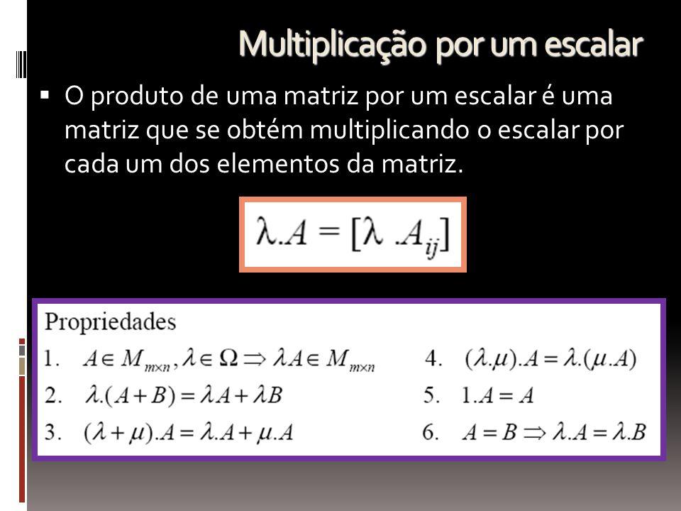 Multiplicação por um escalar